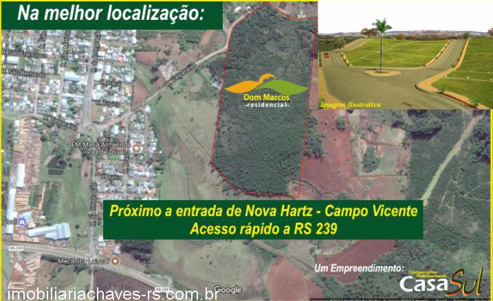 TerrenoVenda em NOVA HARTZ no bairro Campo Vicente
