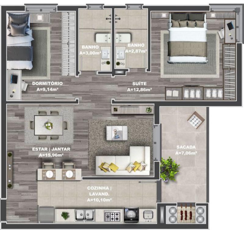 ApartamentoVenda em Caxias do Sul no bairro Bela Vista