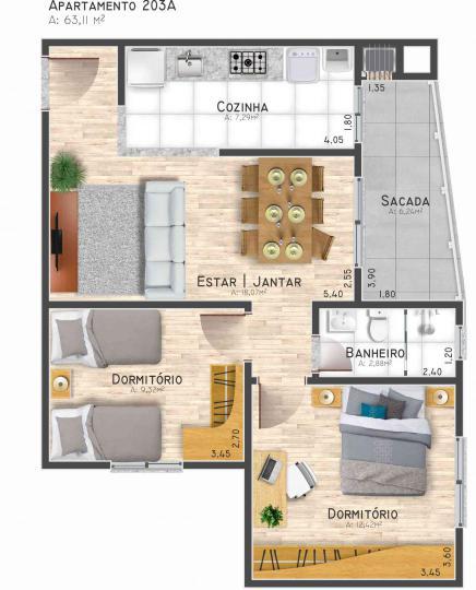 ApartamentoVenda em Ivoti no bairro Jardim Panorâmico
